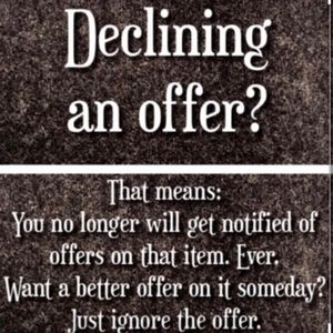 Keep your options open!